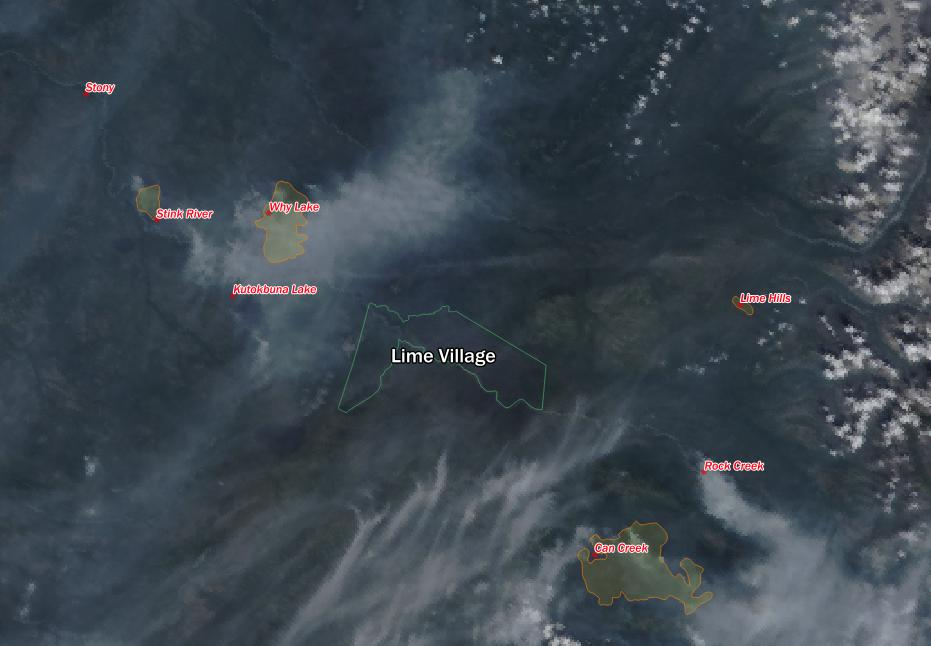 The Lime Village region is very prone to burning.